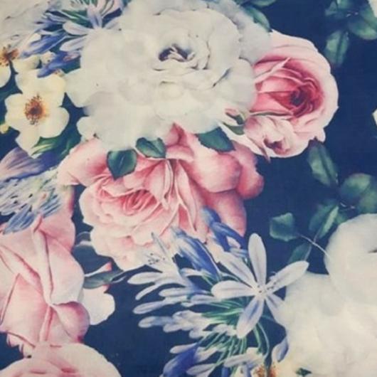 Digitálisan nyomott canvászon, virágok