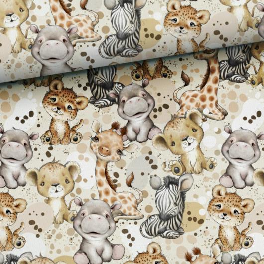 Prémium pamut jersey, Afrikai állatok