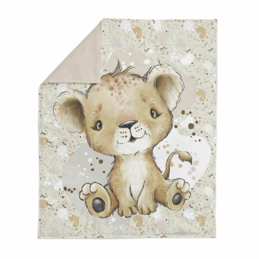 Prémium pamutvászon panel 75x100 cm, Afrikai oroszlán