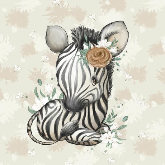 Futter, szabadidő anyag panel 40x50 cm, Afrikai zebra