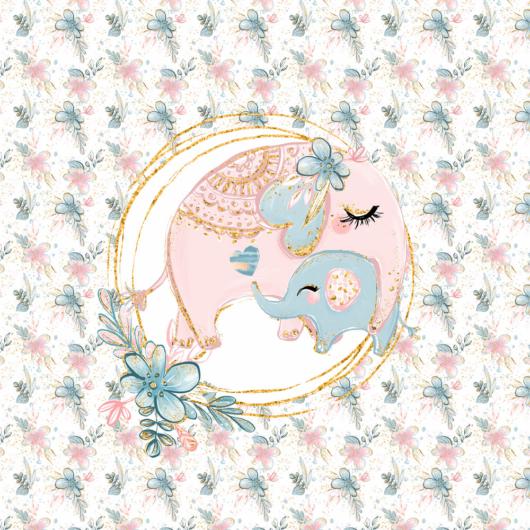 Futter, szabadidő anyag panel 40x50 cm, baby elefánt