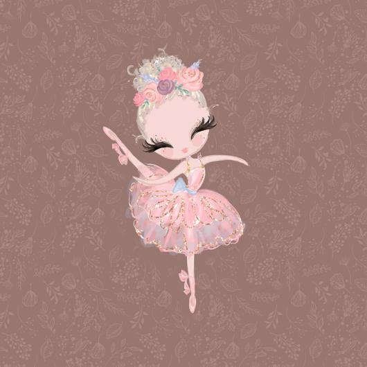 Futter, szabadidő anyag panel 40x50 cm, balerina