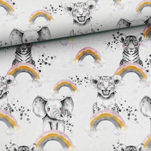 Prémium mintás futter, Mono állatok szivárványon