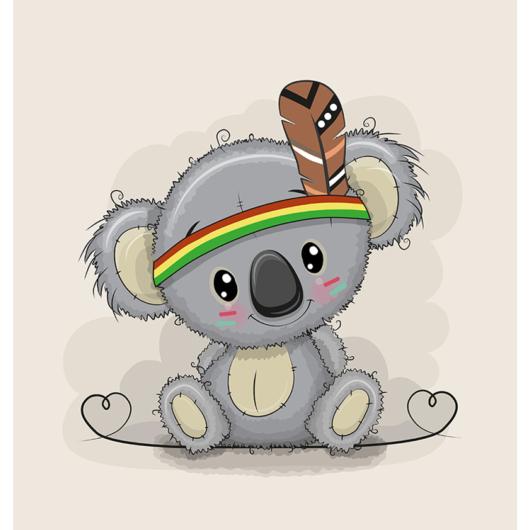 Futter, szabadidő anyag panel 40x50 cm, indian koala