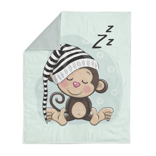 Prémium mintás pamutvászon, Alvó majom