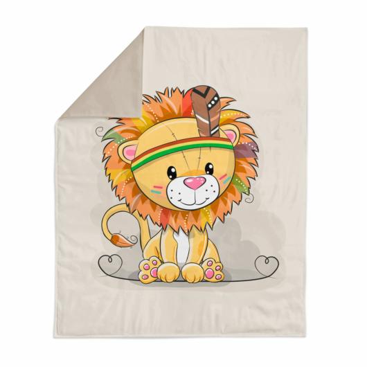 Prémium mintás pamutvászon, Indián oroszlán