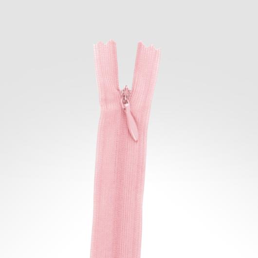 Rejtett cipzár 40 cm világos rózsaszín
