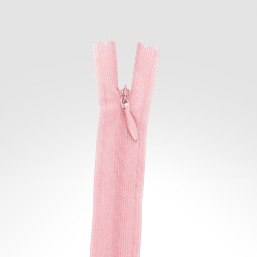 Rejtett cipzár 18 cm világos rózsaszín