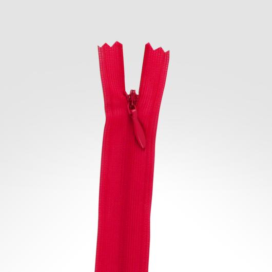 Rejtett cipzár 50 cm piros