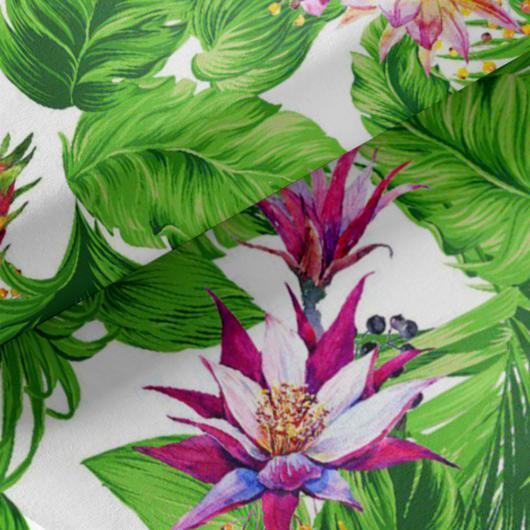 Loneta vászon, zöld növények