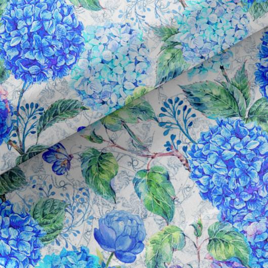 Loneta vászon, Hortenzia - 140x0,90m