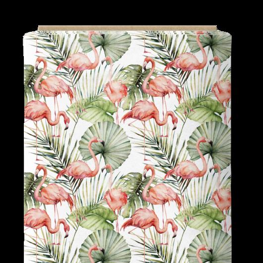 Prémium mintás pamutvászon, Flamingó